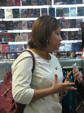 Councilwoman Maria Quiñones-Sánchez  defends the mayor's plan.  Photo by Marcos Rios