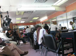 Many clients at New Style Beauty Salon are concerned residents of Hunting Park. Photo by Maureen Coulter