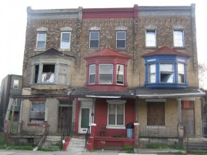 Abandoned homes in East Parkside.