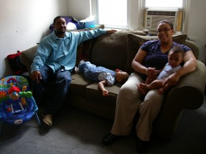Donte with his family