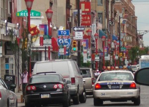 Colorful and franetic, South Street is frequently abuzz with activity.