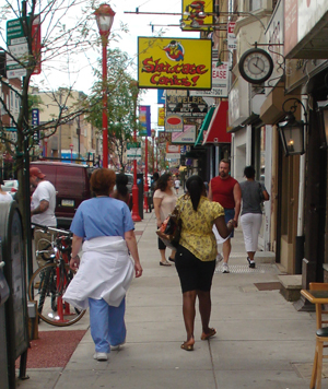 South Street is always busy.