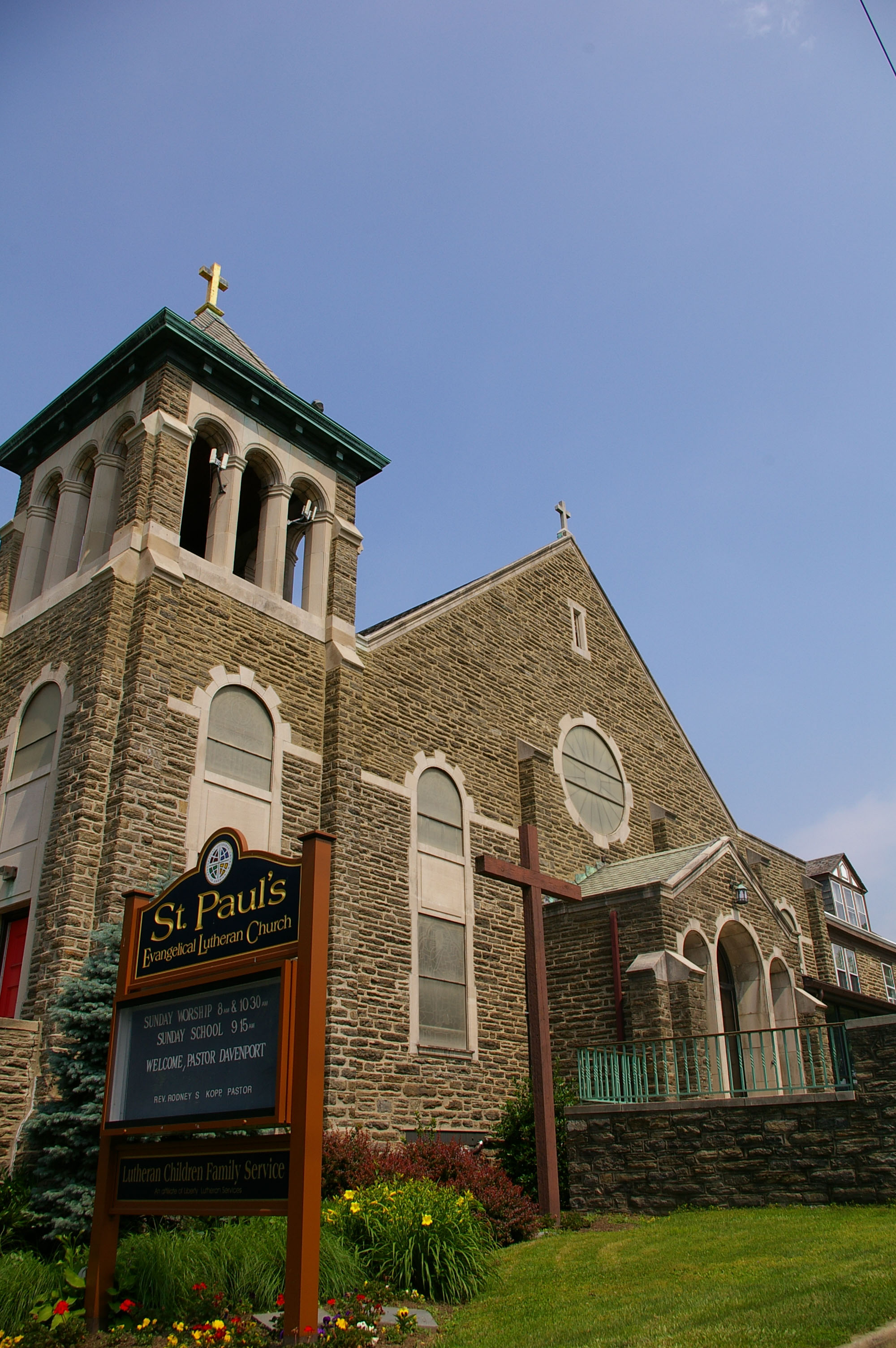St. Paul's Church sits on the corner of Fifth and Nedro streets.