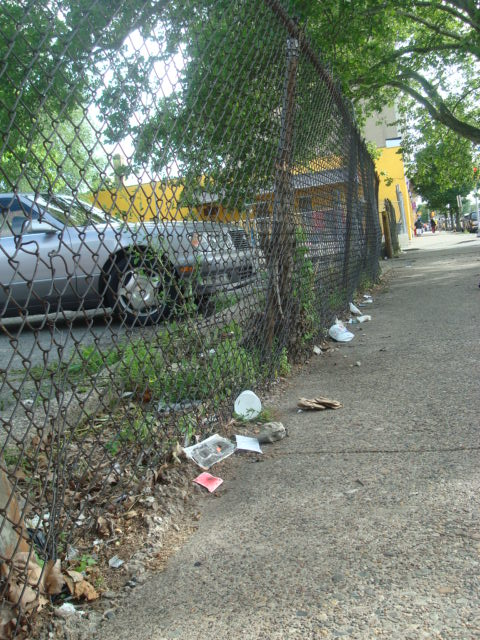 Littered streets in Germantown