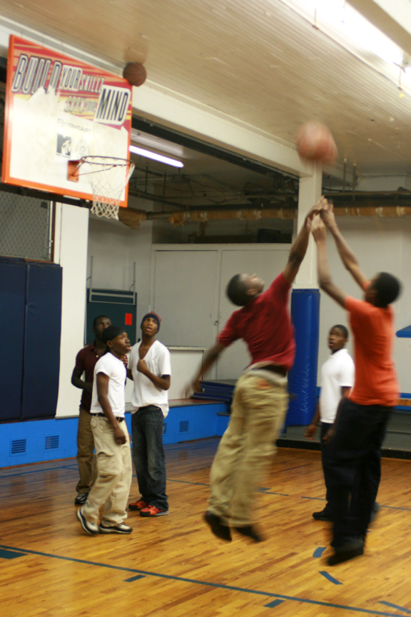 Logan PAL regulars compete in a game of three-on-three.