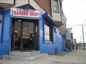 Los Brothers Barber Shop, on the corner of 5th and Hunting Park Ave.