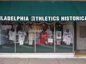 The outside of the Philadelphia Athletics Historical Society and Museum in Hatboro, Pa.