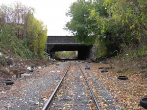 The train tracks of Fairhill.