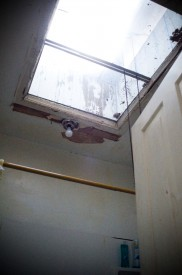 The skylight in Kennedy's bathroom was part of what attracted him to the house.