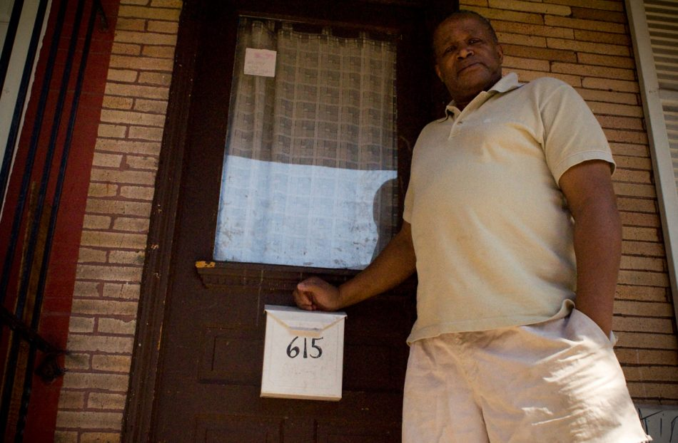 Landvest rent-to-own scam victim Stephen Kennedy stands outside his Kensington home.