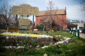The Fishtown Luteran Settlement House Garden is one of many rehabbed lots along Frankford Avenue, which used to be lined with trash-filled parcels of land.