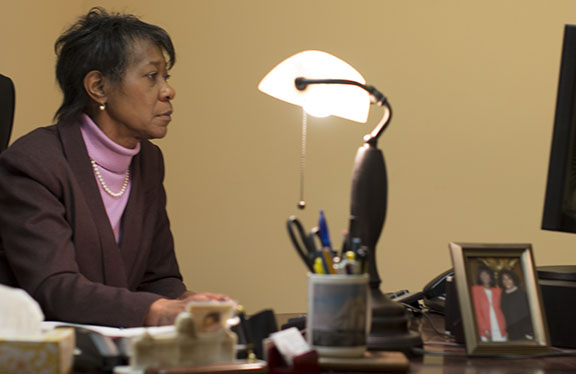 State Rep. Rosita Youngblood worked from her office at 310 W. Chelten Ave. Monday, Jan. 28, 2013.