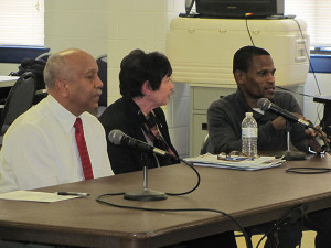Dr. James Cornish, left with other panelists stated why they are in favor of methadone clinics.