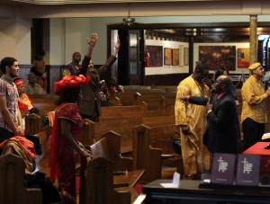 Parishioners worshipped at the First African Baptist Church Feb. 24.