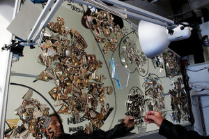 Woodward organized his jewelry collection.