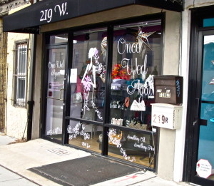 Once Wed Again, Jennifer Waszak's boutique is located right next to Kiddie Kouture on Girard Avenue.