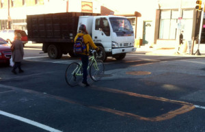 The proposed bike lane's plans will allow cyclists to ride on the west side of Fairmount Avenue until they reach Broad Street.
