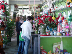 Customers shopped for flowers at Stein Florist.