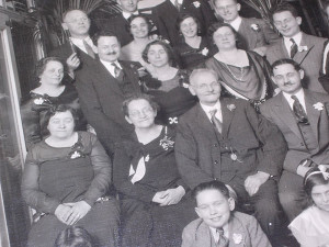 The original owners of Stein Florist, middle, sat for a portrait in the late 19th century (photo courtesy of Stein Florist).