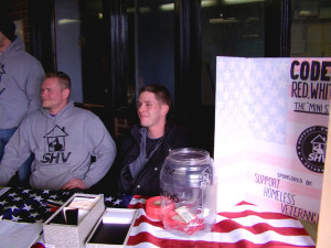 Volunteers help veterans at this month's Code: Red White and Blue.
