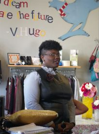 Georgette Niles, founder of fashion blog Grown and Curvy Women, led a panel discussion at The Wardrobe Boutique
