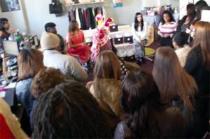 Fashion bloggers Georgette Niles, Mecca Nuri, Jessie Holeva, and Karima Renee led a panel discussion at The Wardrobe Boutique.