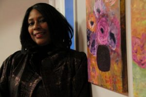 Gaille Hunter showcased her paintings for Germantown neighbors.