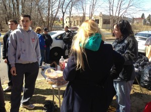 Friends of Pennypack member Nance Kerns directs volunteers at a recent clean up in the park.