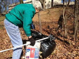 The Friends of Pennypack Trees and Trails committee brought all the equipment used for the groups' clean up.