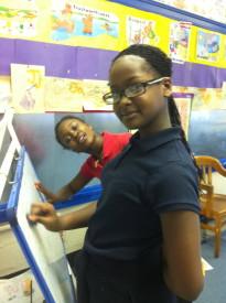 Brians and Kiya were doing math problems.