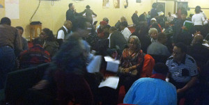 Residents separated into breakout groups in which they discussed the transformation model for community development.