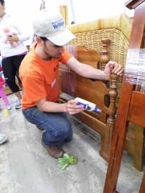 ReStore Development VISTA Greg Bradley is in charge of all the volunteers.