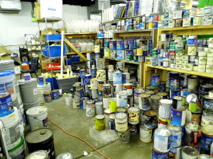 Everything in the store has been donated such as paint from Lowe's.