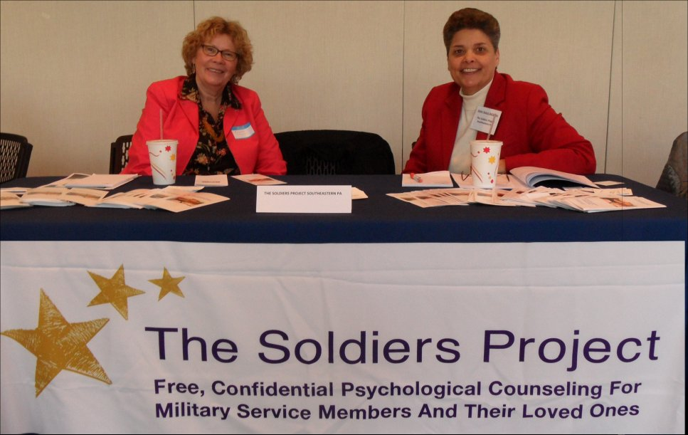 DeCesare, right, with a volunteer working for The Soldiers Project. Photo courtesy of The Soldiers Project in Pennsylvania.