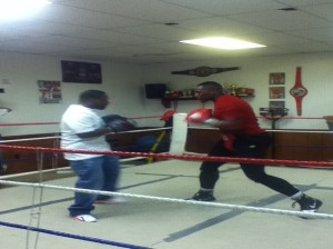 Attack Mode Founder, Rick Terrell (left), worked on some strategy with Marquis Dacres in preparation for his upcoming fight.