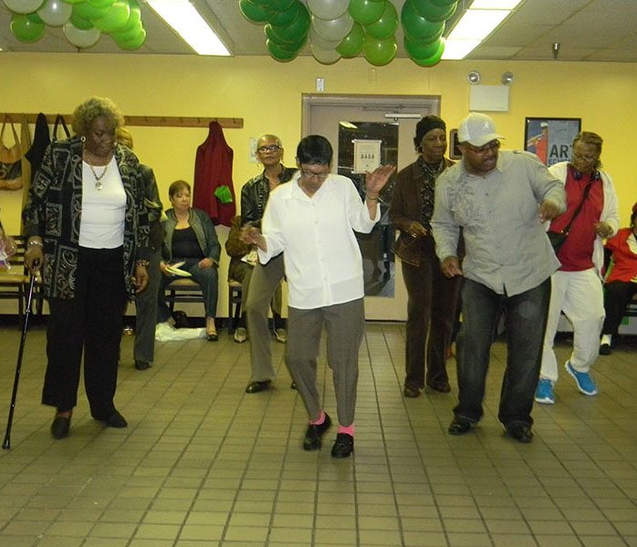 Line dancing instructor, Aaron Boyd, taught the senior members new dance moves at the appreciation event.