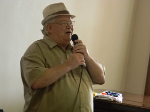 Robert Cunningham performed live entertainment for the residents.