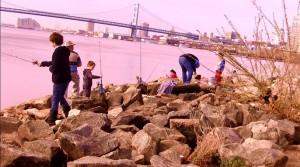 Fishtown residents attended the Fishtown Fishing Derby at Penn Treaty Park.