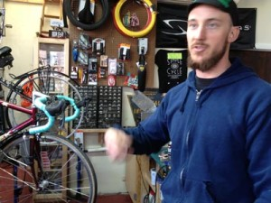 Daniel Helms rides his bike every day to get exercise.