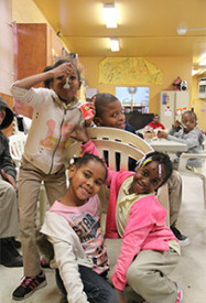 Children from the after school program at Tustin Recreation Center worked on their homework and socialized with friends.