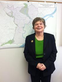 Evelyn Tarpey displayed Pastoral Planning Area 600.