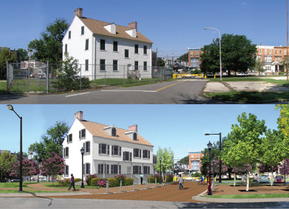 Photo Credit: Hunting Park Revitalization Plan Executive Summary The Hunting Park Revitalization Plan included conceptual drawings of what the Logan House could be.