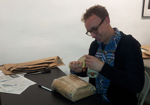 Will Eddy participated in the Books Packaging event at Books Through Bars.