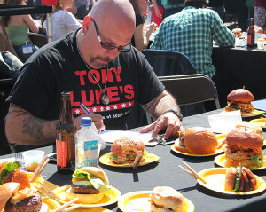 Tony Luke Jr., of Tony Luke's, was one of several judges at Sunday's brawl.