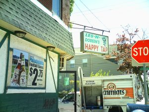 Neighborhood bars, such as Les & Doreen's Happy Tap, have experienced less outsider business due to parking issues.