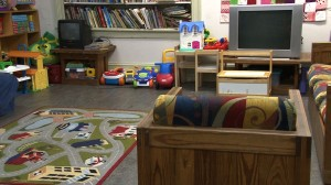 A family room was set up to give those staying in the program a sense of family unity.