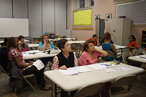 Participants in the citizenship class learned about U.S History.