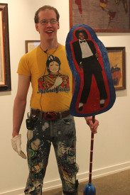 Andrew Dyerer showed off his Michael Jackson apparel.