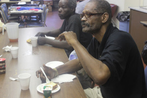 Church members enjoyed refreshments while services took place.