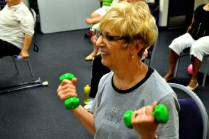 People of all ages can be seen working out at the YMCA.